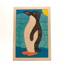 Holzpuzzle Pinguin